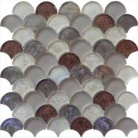Wholesale Meteorites brown grey water waving glass mosaic from china suppliers