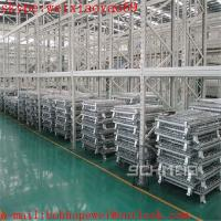 Wholesale Foldable Warehouse wire mesh container cage/security cage/pallet cage/metal bin/industrial storage cabinets/cage storage from china suppliers