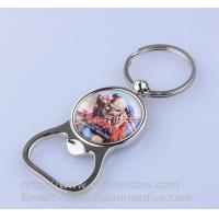 Wholesale Epoxy dome beer bottle opener key holder, metal bottle opener keyfob with epoxy coat, from china suppliers