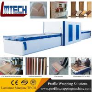 China PVC Exterior Composite Doors vacuum membrane press machine on sale