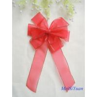 Wholesale Gold Edge wired Christmas ribbon bows / ribbon christmas wreath 30cm OEM / ODM Available from china suppliers