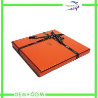 Wholesale Fashion Clothing Gift Boxes Leatherette Paper Foil Stamp Logo from china suppliers