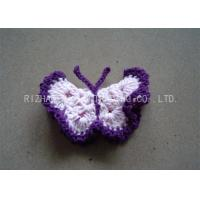 Wholesale Purple Crochet Accessories Milk Cotton Butterflies Shape Hand Crochet Applique from china suppliers