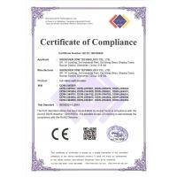 SHENZHEN DDW TECHNOLOGY CO.,LTD Certifications