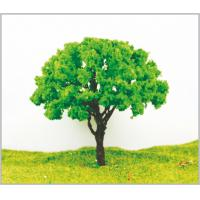 Buy cheap 11cm Theme Park Layout Custom Metal Yello Green Miniature Model Trees from wholesalers