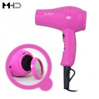 Wholesale MHD-101 Mini Hair Dryer 800 Watts Blow Dryer Ceramic Ionic Hair Styler Pink Color from china suppliers