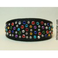 Wholesale Chinese wholesale leather diamante whippet collars from china suppliers