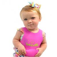 Wholesale Free sample hot sel pinkl silicone baby bib with pocket cheap price from china suppliers