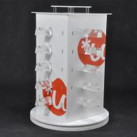 Quality Revolving White Acrylic Sunglasses Display Stand Free Standing Eyewear Display For 20pcs Glasses for sale