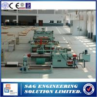 Cut To Length Line Metal Plate Cutting Machine , Durable Used Vertical Slitting Machine