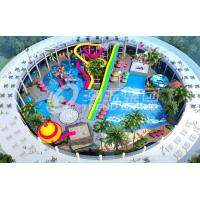 Wholesale Trend Hotspring Waterpark Project , Fiberglass Water Park Equipment  / Customized Aqua Park Project from china suppliers