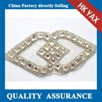 Wholesale D0930 High quality Iron-on crystal bridal appliques for wedding dress belt design from china suppliers