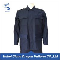 Wholesale Dark Navy Poly Cotton Bdu Shirt Rip Two Pocket OEM & ODM Service from china suppliers
