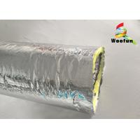 Quality Air Ventilation Flexible HVAC Duct Insulation Wrap Aluminum Foil With Glass Wool for sale