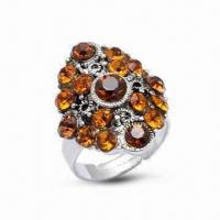 Wholesale Ring, Made of 925 Sterling Silver, Decorated with CZ Stone from china suppliers