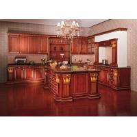 Wholesale European Style Hardwood Solid Wood Kitchen Cabinets Wall Mounted Traditional from china suppliers