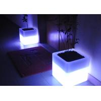 Wholesale Square Illuminated Plant Pots Multicolor Change Round Glow In Dark Flower Pots from china suppliers