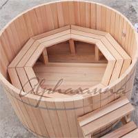 Wholesale ISO High grade luxury Portable wooden barrel SPA Hot Tub for Outdoor used from china suppliers