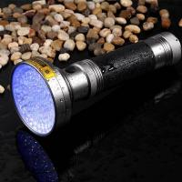 Wholesale Best 100LED 395NM UV Flashlight 6*AA - Pet Detective LED Ultraviolet Blacklight Reveals Hidden Dog And Cat Urine Stains from china suppliers