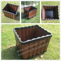 Quality WPC outdoor flowerpot OLDA-7013 rectangle planter 415x365x340mm for sale