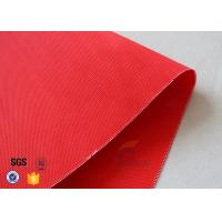 Wholesale Red Acrylic Coated Fiberglass Fabric For Industrial Fire / Welding Blanket from china suppliers