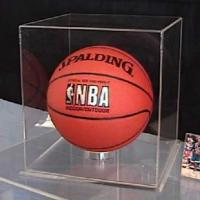 Wholesale Acrylic Clear Basketball  Display Case Counter top Plexiglass Football Cube Holder Box from china suppliers