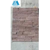 Buy cheap Purple Sandstone Ledge Stone Panels Cultured Stone Veneer Stone Wall Cladding Stacked Ston from wholesalers