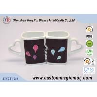 Wholesale Eco-friendly mug Custom Heat Sensitive Handle Couples Coffee Mugs Change Color Heat from china suppliers
