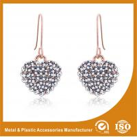 Wholesale Custom Nice Hook Design Silver Heart Metal Stud Earrings For Wedding from china suppliers