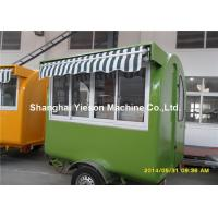 Hot Dog Food Truck Mobile Cooking TrailersDark Green With Gas Equipments