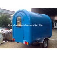 Quality Customs Mobile Fiberglass Concession Trailers Fast Food Trucks Crepes for sale