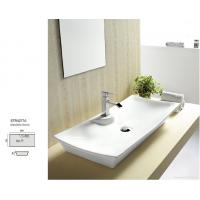 Wholesale above counter round shape art basin with single faucet hole sink basin from china suppliers