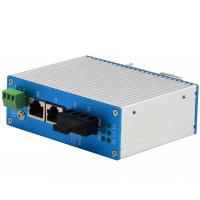 Wholesale Single Mode Fiber Industrial Media Converter With 10 / 100 Mbit/s Interface Speed Rate from china suppliers