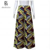 Wholesale Colorful African Print Wide Leg Pants Floor Length Anti Wrinkle Plus Size from china suppliers