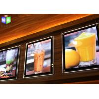 Wholesale Fast Food A2 Slim LED Illuminated Menu Boards Crystal Lightbox Wall Mounted from china suppliers