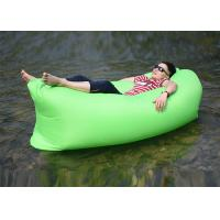 Quality Waterproof Nylon Inflatable Sleeping Bag , Comfortable Inflatable Bean Bag for sale