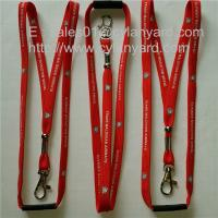 Wholesale Tubular polyester lanyard with metal crimp and metal bead, simple tubular lanyards, from china suppliers