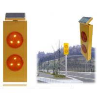Wholesale Yellow Flashing Solar Warning Sign Traffic LED Warning Light from china suppliers