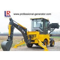 Buy cheap 1000kg Load Heavy Construction Machinery / Mini Backhoe Wheel Loader With 0.15 bucket 37kw from wholesalers
