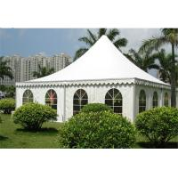 Wholesale Large Outdoor Canopy Tent 10x10m , Luxury Camping Tent White PVC Cloth from china suppliers