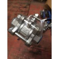 Quality 3PC Full Port NPT Threaded SS Ball Valve , CF8 NPT Ball Valve 1000 WOG Pressure for sale