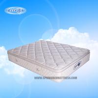 Wholesale Anti-bacterial Latex Bonnell Pillow Top Mattress Topper , Coil Mattress With Golden Pattern from china suppliers