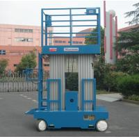 Wholesale Self - Propelled Aluminum Work Platform 8m Platform Height Dual Mast from china suppliers