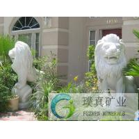 Wholesale Chinese stone carving white life size garden stone lion statue for sale from china suppliers