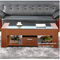 Wholesale Glass Table Top with wooden edge for Living Room from china suppliers