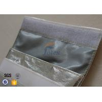 Wholesale Silver + Grey Inside Fiberglass Fabric Fireproof / Fire Resistant Cash Pouch from china suppliers