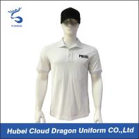Wholesale White color Customized Security Guard T Shirts For Men , Embroidery / Badge Logo from china suppliers