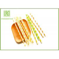 Wholesale Wedding Decoration Striped Paper Straws For Drinking 197 * 6mm Size from china suppliers