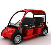 Quality Dongfeng Red Security 4 Seat Electric Car Passenger Vehicle With Light / 3.0KW Motor for sale
