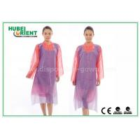Wholesale White Waterproof and Dustproof Disposable Aprons PVC Material With Punched Neck Opening from china suppliers